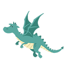 Blue-Dragon-vers-la-gauche 5cm