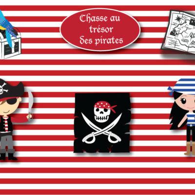 Chasse au trésor à imprimer thème pirates