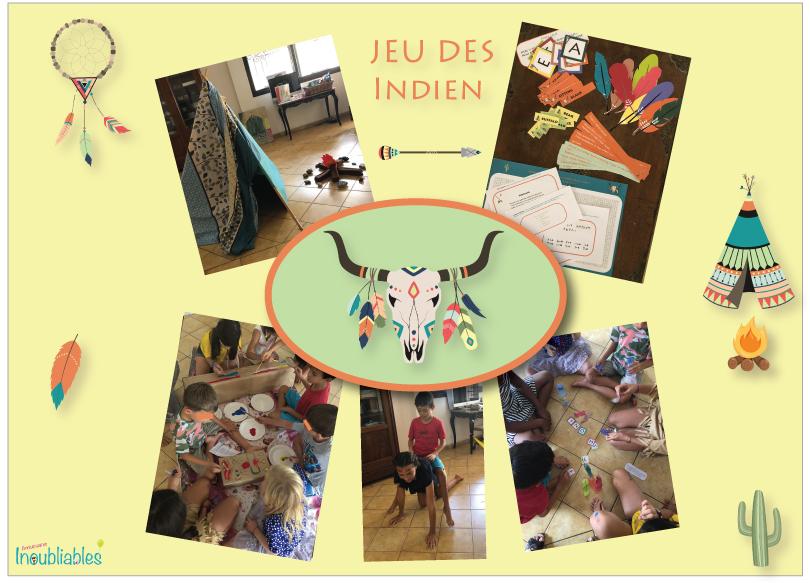 Anniversaire sur le thème des indiens, anniversaire 7 ans, anniversaire 8 ans, anniversaire 9 ans, anniversaire 10 ans