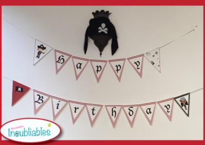 Décoration à imprimer anniversaire pirate banderolle