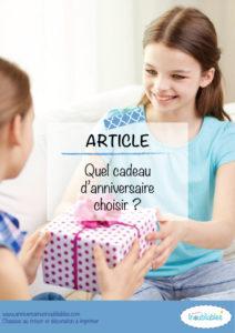 Quel cadeau d'anniversaire choisir pour mon enfant ?