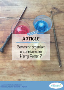 activités anniversaire Harry Potter