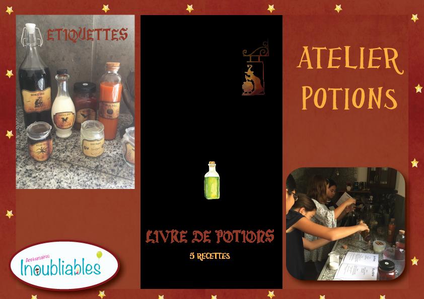 Atelier de potions activité d'anniversaire de sorciers