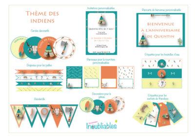 banderolle d'anniversaire indien, invitations thème indien, anniversaire 7 ans, anniversaire 8 ans, anniversaire 9 ans
