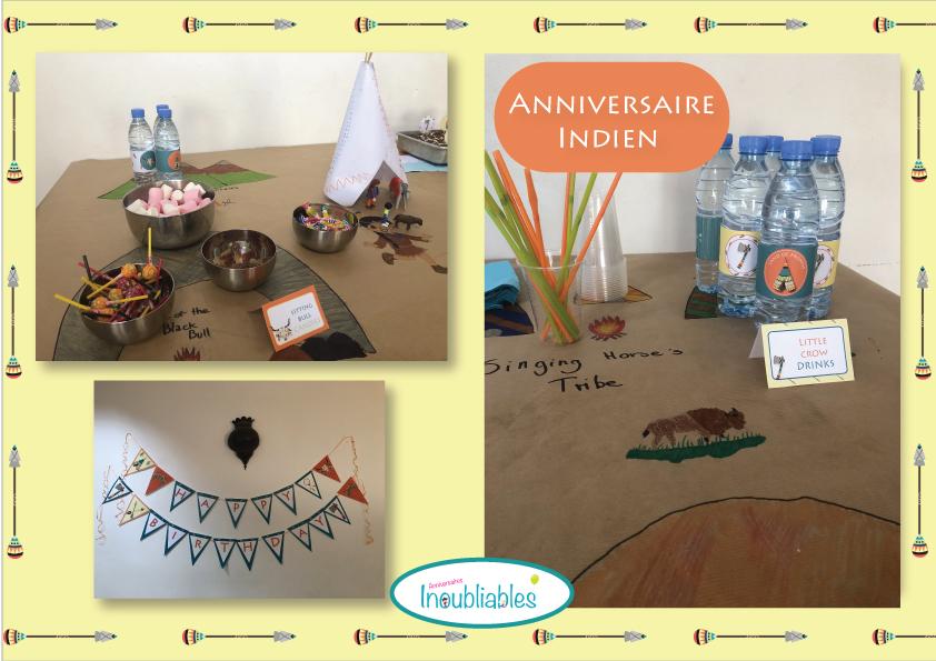 Goûter d'anniversaire thème indien