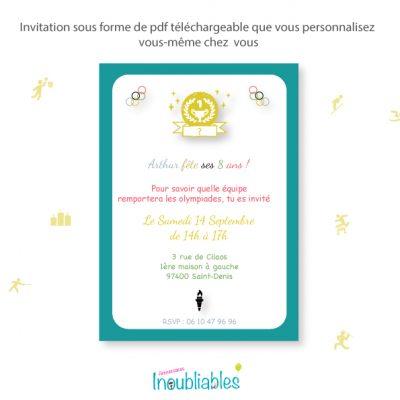 Invitations anniversaire Olympiades